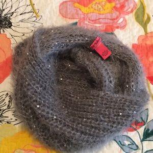 Grey Fuzzy Betsy Johnson Scarf